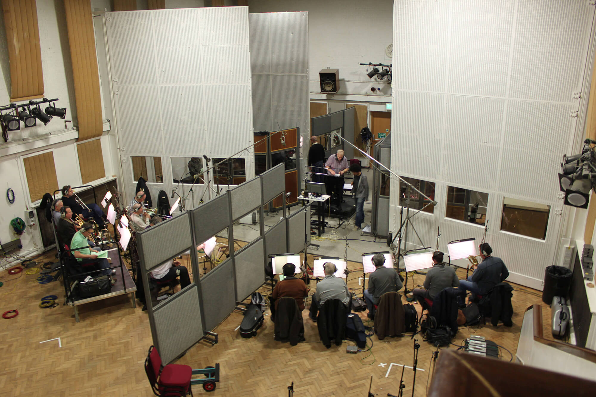 EMI 'Big Band Glamour' sessions at Abbey Road Studios, London.