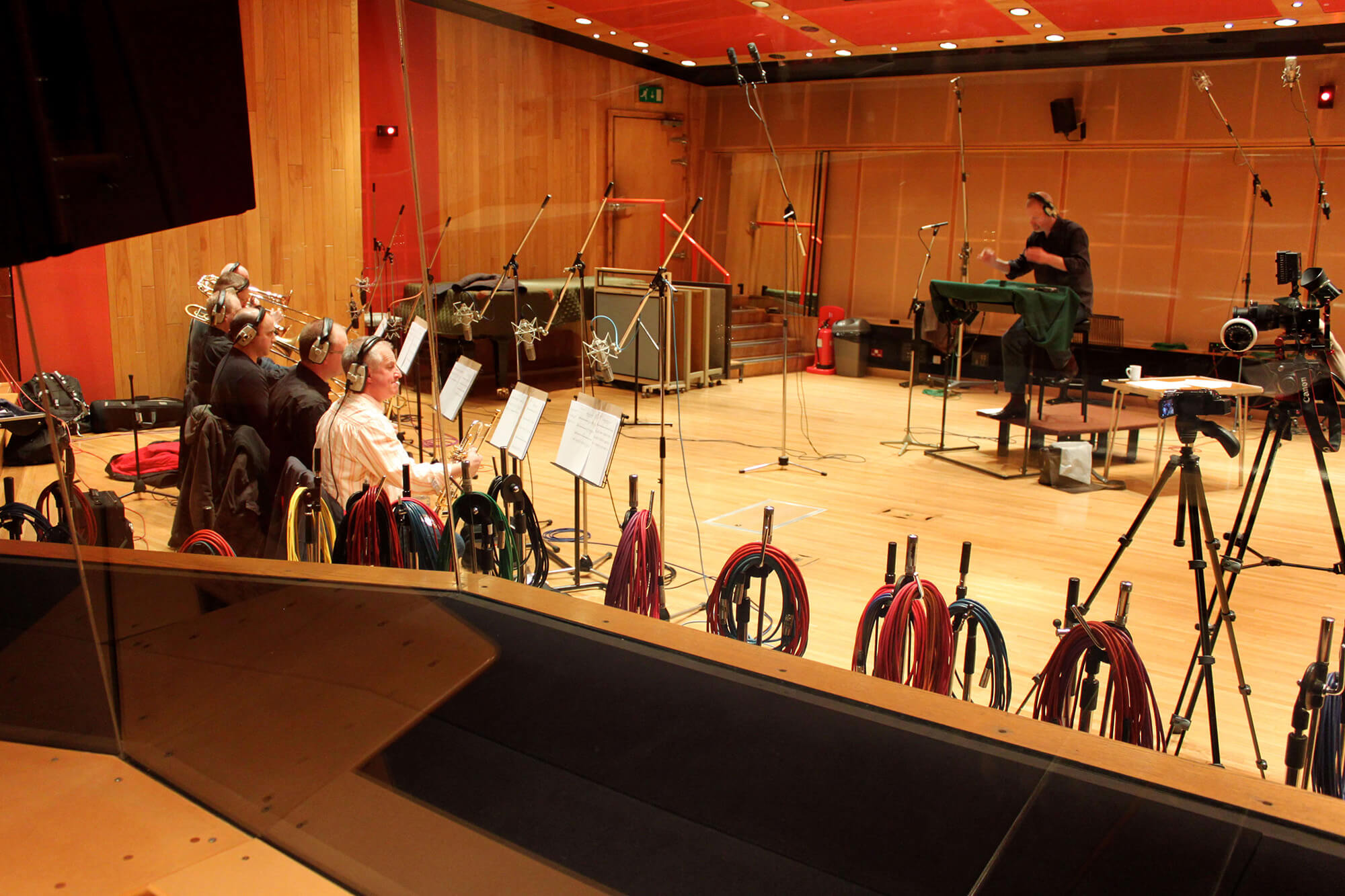 Recording Brass at Angel Sudios, London for Universal / Focus 'Hollywood Blockbusters 2'.