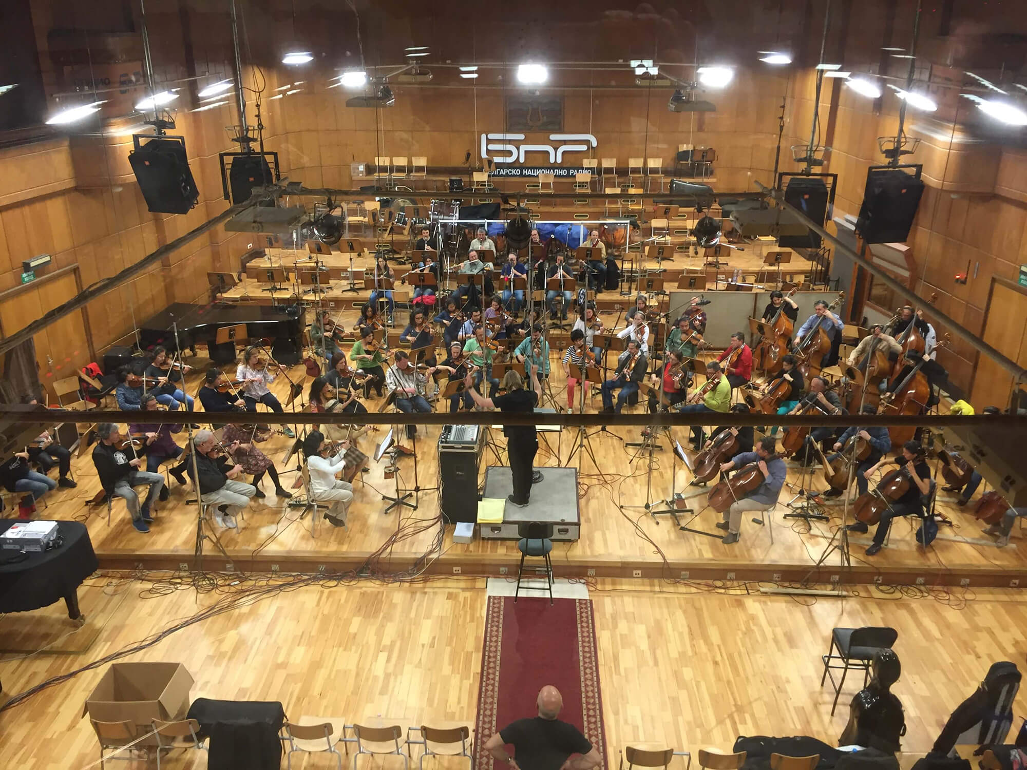 Sonoton Trailer Tracks sessions with the Bulgarian Film Orchestra, conducted by Gregor Narholz.